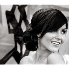 Bridesmaid hair, side bun