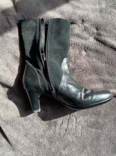 Size 9 leather boots Black Preloved good condition. No smell Price low because you pay shipping Gentleman Shoes, Black Leather Boots, Ankle, Products, Fashion, Moda, Wall Plug, Fashion Styles, Fashion Illustrations