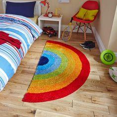 Hong Kong szivárvány színű szőnyeg, 70 x 140 cm - Think Rugs Childrens Rugs, Childrens Room Decor, Sisal, Playroom Rug, Ikea Kids, Carpet Trends, Carpet Ideas, Yellow Rug, Pink Owl