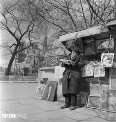 World War II. Paris under the Occupation. Secondhand booksellers ...