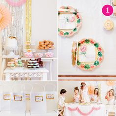 Pretty little floral party (love the hair styles)