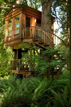 Awesome Treehouse Masters Design Ideas that will Make You Dream to Have It - DecOMG Tree House Deck, Adult Tree House, Tree House Plans, Building A Treehouse, Building A House, Future House, My House, Casas Club, Cool Tree Houses