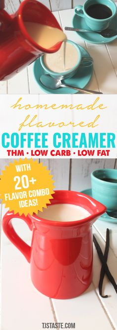 Coffee Mate French Vanilla Coffee Creamer - Homemade Flavored Coffee Creamer - Coffee Creamer - Ideas of Coffee Creamer - 4 simple ingredients 5 min or less to make over 20 flavor combo ideas Homemade Flavored Coffee Creamer THM Trim Healthy Mama Keto Coffee Creamer, Homemade Coffee Creamer, Easy Coffee Creamer Recipe, Smoothies Verdes, Green Smoothies, Granola Barre, French Vanilla Creamer, Green Coffee Extract, Thm Recipes