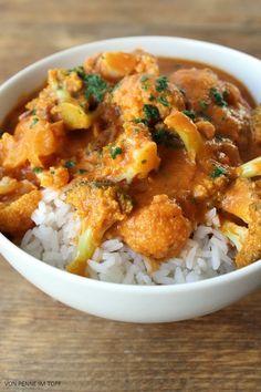 Penne im Topf: Blumenkohl - Brokkoli - Curry