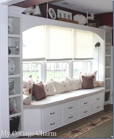 20 Pics Furniture Re-purposed @Jennifer Womack-Ha | oh watch the birds, relax in the sun, do some reading... would love a spot like this; to have, needs modified, then perhaps in dining room or living room.