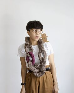 scarf, crochet