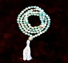Mala Bead Necklace With Turquoise Glass Beads by creationsbylr, $17.50