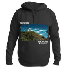 Photo of Cape Reinga - New Zealand Hoodie Gray Background, Kiwi, New Zealand, Cape, Cool Designs, Hoodies, Products, Fashion, Mantle