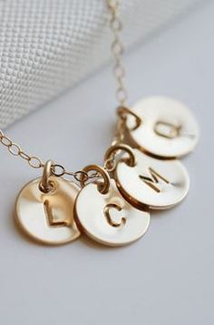 four initial necklace. love these!
