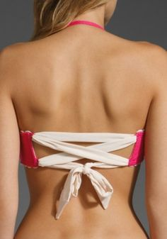 hook-in-back bikini tops are always loose on me; I wonder if I could convert a top to do this...