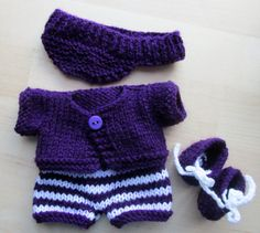 Knitting Pattern for Berenguer Li'l от DesignerDollsClothes