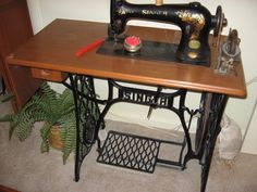 Singer treadle machine.  People buy this and then convert it into plant stand. 3/29/16