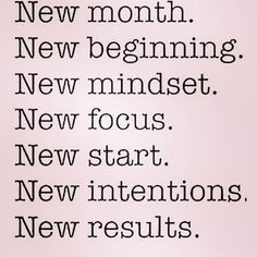 New month! What are your plans?