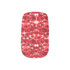 Red Diamond Sparkle Fingernail Decal
