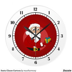 Santa Clause Cartoon Clocks