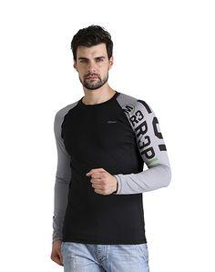 Men's Black & Grey T-shirt – Atheno India