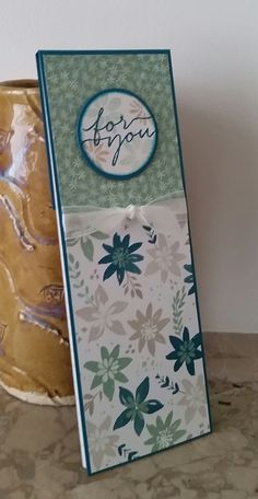 Stampin' Up! Demonstrator stampwithpeg – Blooms & Bliss Notepad for you. Today's project came about because of my wish to use up my full sheet of 12 x 12 DSP, after using about two thirds…
