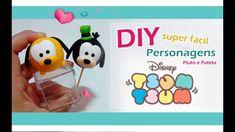 DIY - Personagens Disney tsum tsum (Pluto e Pateta)