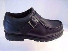 Men Lugz Boot Strutt Low Strap Leather MSTUL-001 Black Size 10 Excellent #Lugz #WorkSafety