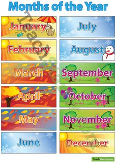 months of the year | Months of the Year Poster - No Christmas | Teaching Resources - Teach ...