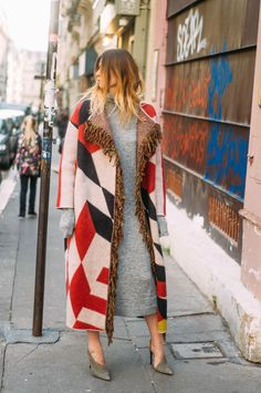 THINK BIG | The Blab  Bimba y Lola coat / Designers Remix knitted dress / Alexander Wang shoes