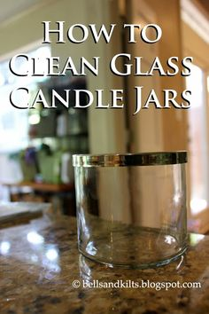 {DIY} How to Clean Glass Candle Jars, good to know for decorating and craft projects! Upcycling is awesome. Diy Cleaning Products, Cleaning Solutions, Cleaning Hacks, Texas, Glass Candle, Jar Candles, Reuse Candle Jars, Vegan Candles, Scented Candles