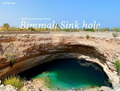 #DidYouKnow Oman possess the world's most stunning sink hole - Bimmah Sink hole, situated at The Hawiyat Najm Park.  If you are in Oman, don't forget to take a dip in the emerald-tinted waters of this beautiful place.