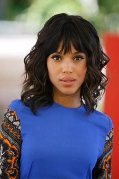 20 different long bob with bangs. Lob haircut and hairstyles. Best bob and lob hairstyles. Fashionable long bobs with bangs. New Short Hairstyles, Hairstyles With Bangs, Black Hairstyles, Party Hairstyles, Short Haircuts, Medium Hair Styles, Curly Hair Styles, Natural Hair Styles, Kerry Washington Hair