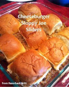 Cheeseburger Sloppy Joe Sliders! Yummy! :)