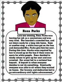 rosa parks story educational videos for students rosa parks for bie rosa parks mini unit more