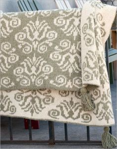 With its striking colorwork, this throw is sure to become a family heirloom. Yarn: Harrisville Designs New England Highland wool; Double Knitting Patterns, Crochet Patterns For Beginners, Knit Patterns, Knitted Afghans, Knitted Blankets, Hand Crochet, Knit Crochet, Fair Isle Knitting, Ponchos
