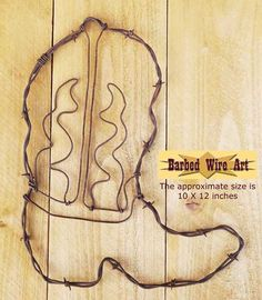 Cowboy Boot II ~ County Cowboy Southwestern Art Decor  sc 1 st  Pinterest & Barbed Wire Art 44 Magnum Revolver Southwestern Man Cave Wall Decor ...