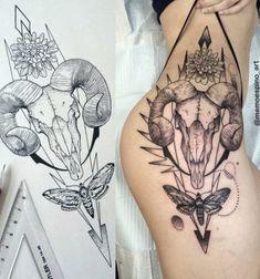 Best Tattoo Thigh Skull For Women Ideas – skull tattoo sleeve Skull Thigh Tattoos, Flower Thigh Tattoos, Leg Tattoos, Sleeve Tattoos, Tattoo Thigh, Animal Thigh Tattoo, Great Tattoos, Trendy Tattoos, Beautiful Tattoos