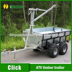 Source ATV Quad forest timber trailer with electric winch crane on m.alibaba.com