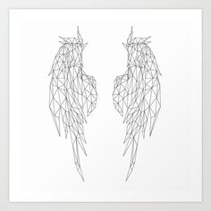 Wings geometric Art Print by ameen adam - $19.76