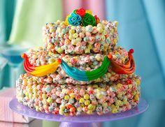 Fruity pebble wedding cake - Google Search