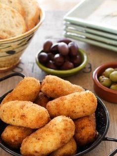 Genuine Spanish croquetas are filled with a creamy béchamel mixture and fried to a crisp outer shell and they are delicious!