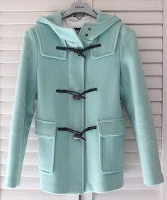 Hooded pea coat. I love this color and style jacket. I want this!