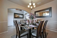 Spacious Dinning Room in Siena Model Home #SaratogaHomes