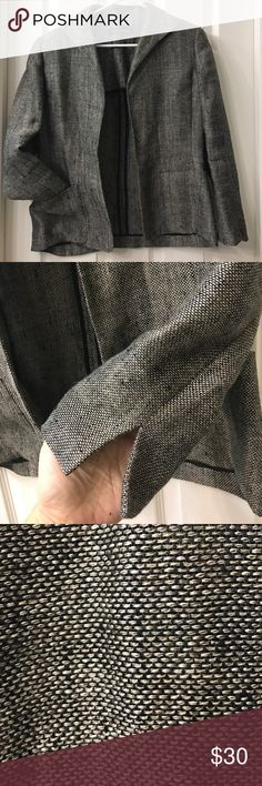 "Ann Klein linen Blazer Beautiful lightweight Blazer. Very loose weave so almost sheer. Sleeves are lined. 24"" long, 22"" sleeve length 18"" chest. It is not marked with a size but I'd say it's a Small (7/8) 90% linen 10% nylon. Anne Klein Jackets & Coats Blazers"