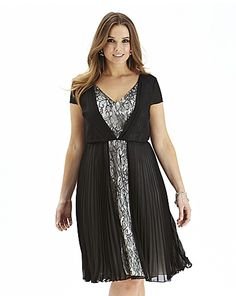 Lace And Pleat Dress | Simply Be
