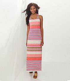 Tommy Bahama Buff Bay Striped Maxi Dress #Dillards