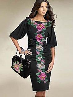 Украинское вышитое платье. вышиванка. Современное от VLASIYA