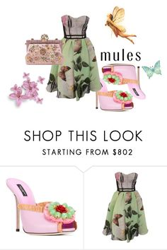 """Mules: slip'em on"" by flowerbud77 ❤ liked on Polyvore featuring Dolce&Gabbana, Antonio Marras and mules"
