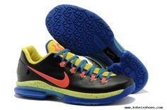 the latest 2dd86 854ca KD 5 Low Thunder Away 585385 200 Kevin Durant Basktball Shoes