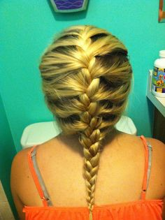 French braid that I have done. Very simple and easy