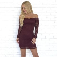 f9a9f7c9063 So In Love Wine Lace Dress - Dainty Hooligan Boutique Skater Style