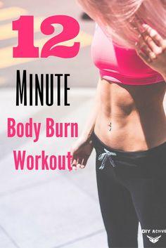 12 Minute Body Burn Workout via @DIYActiveHQ #fitness