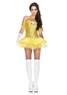 8c9e0fd86a5 LA85027 Sexy Leg Avenue ENCHANTING BEAUTY BELLE Fancy Dress Costume  Princess Belle Costume