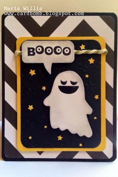 Card Bomb by Maria Willis: Fall Fest: I'm Having fun with this Ghost! I am be...
